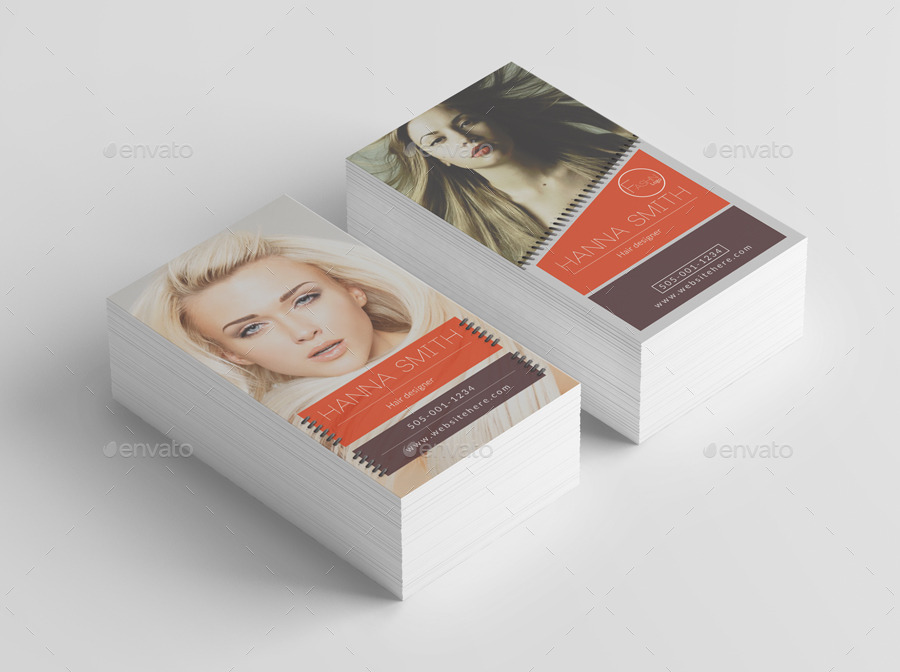 customizable hair designer business card