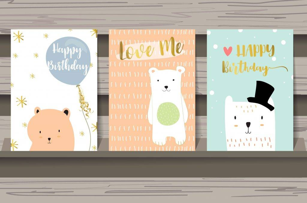 cute lovely design animal postcard