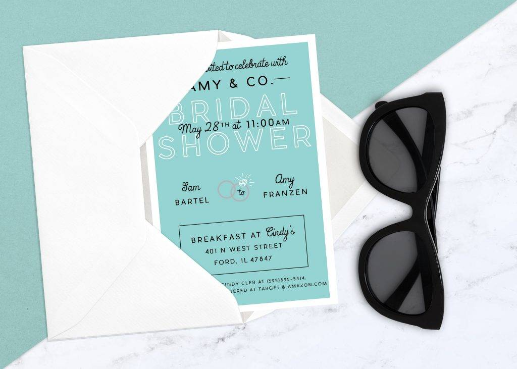 cute simple breakfast invitation example