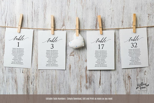 diy wedding seating chart example