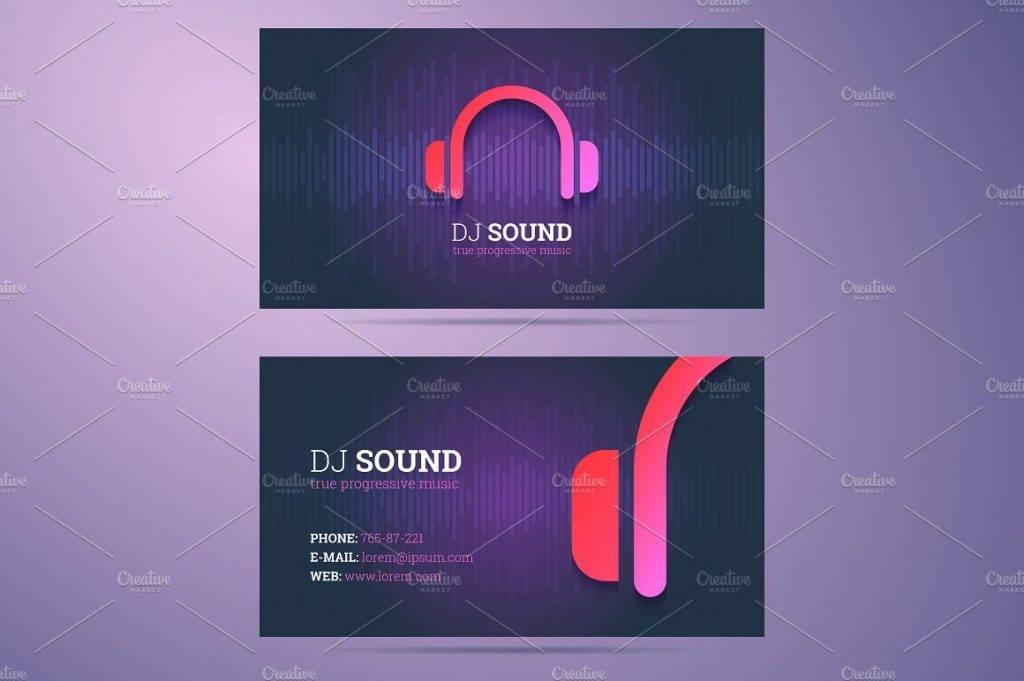 dj sound business card