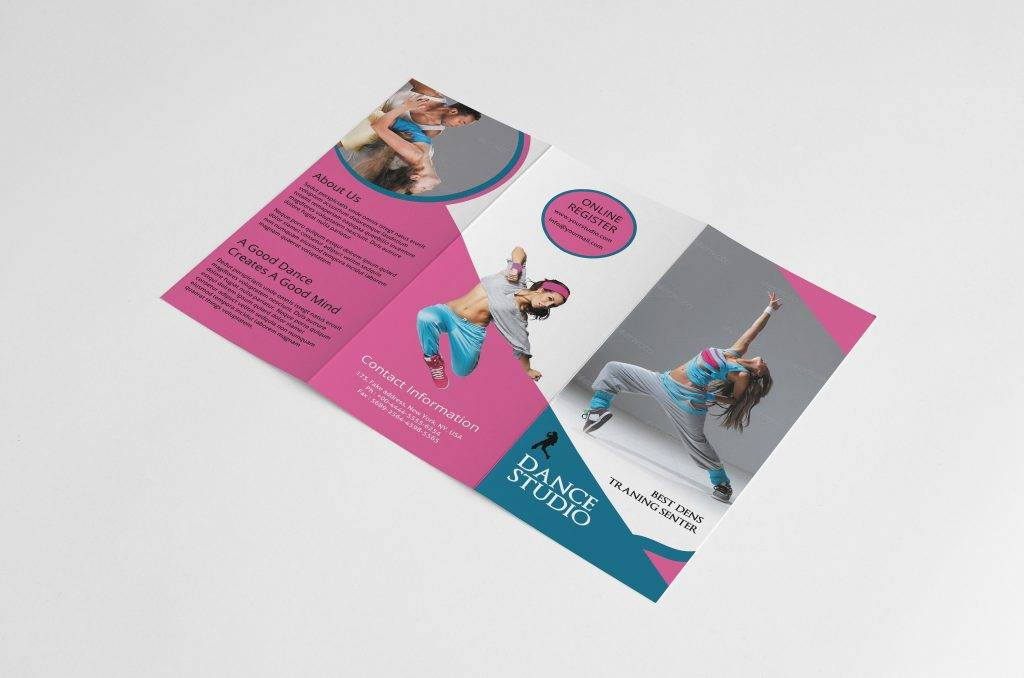 dance studio workshop brochure example