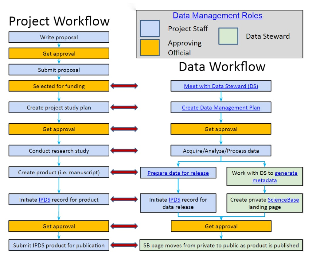 data management project workflow example
