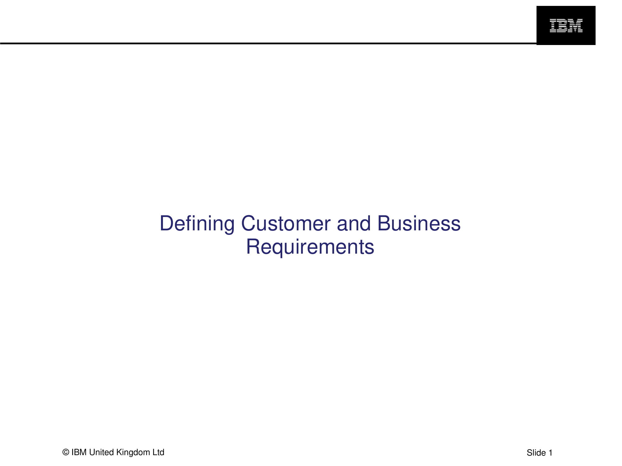 defining customer and business requirements example