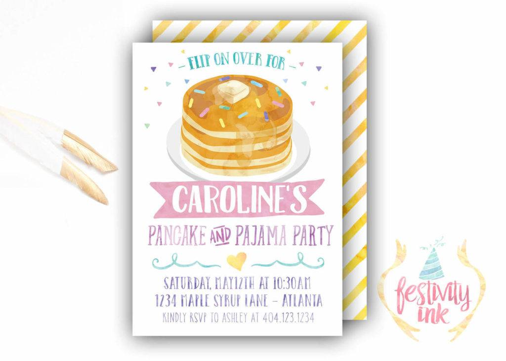 delicious pajamas invitation example