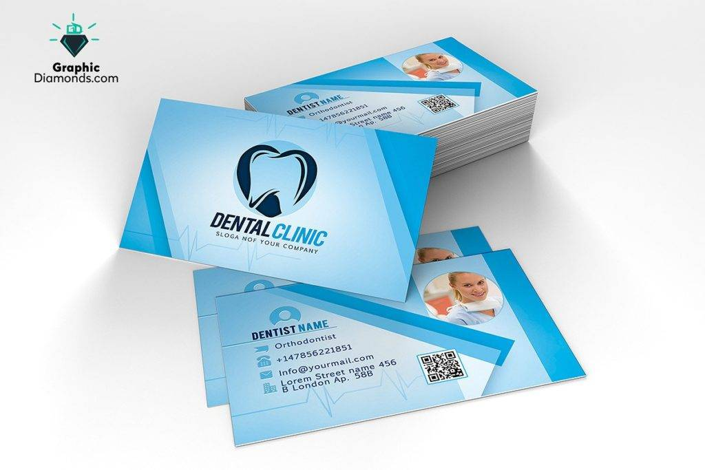 dentist business card template example