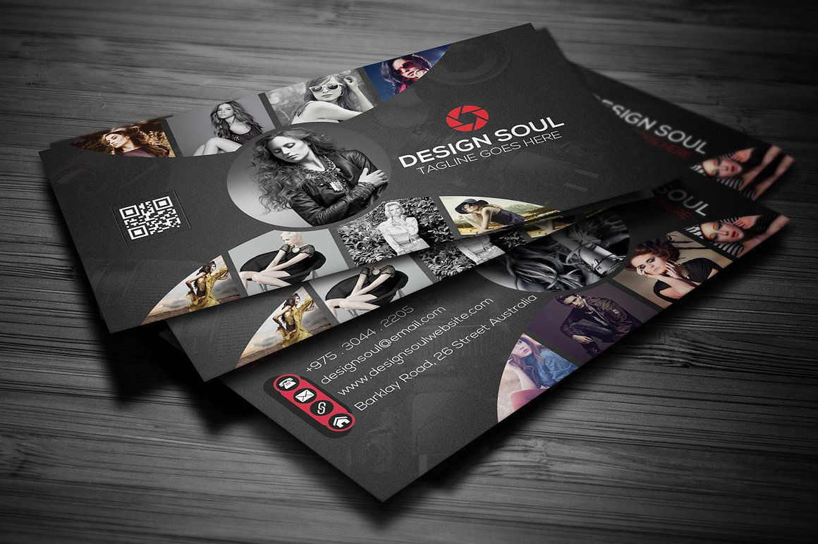 11 photography business card designs and examples psd ai design soul photography business card example reheart Images
