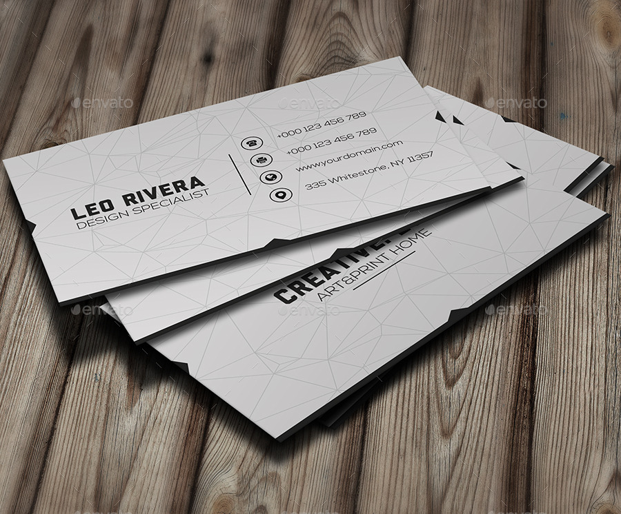 design specialist minimal business card example