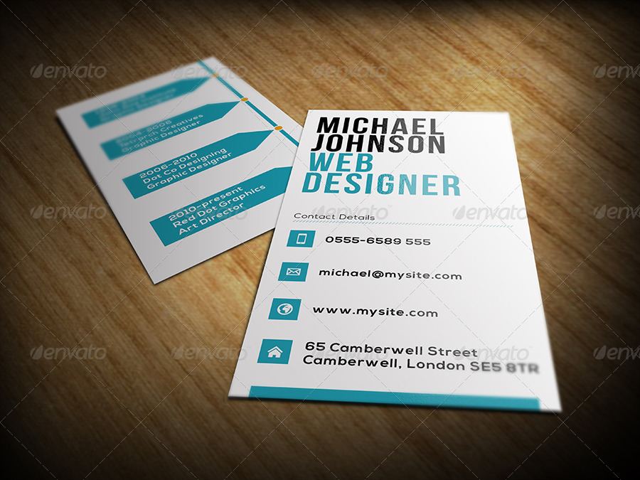 designer business card example