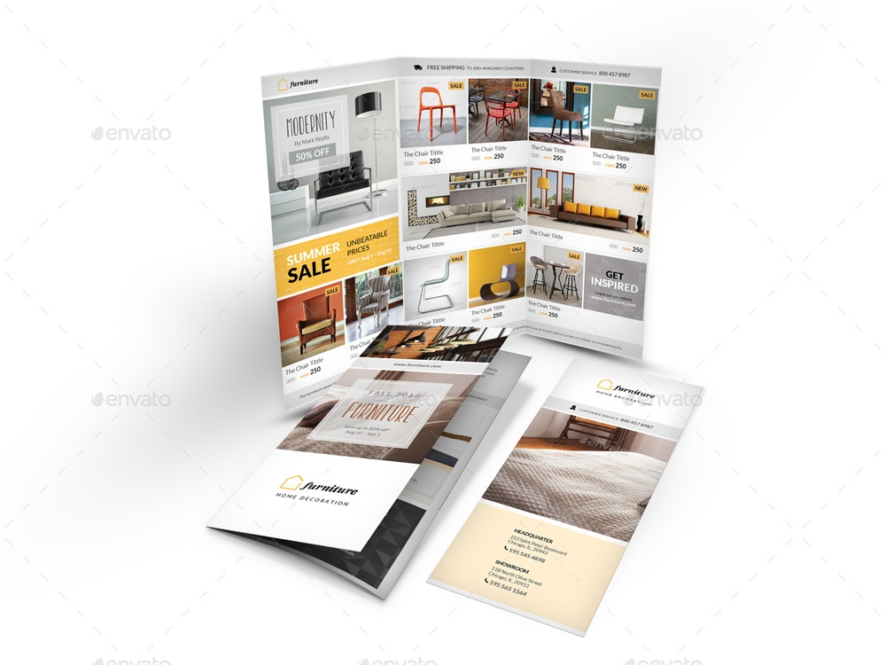 detailed furniture trifold brochure example