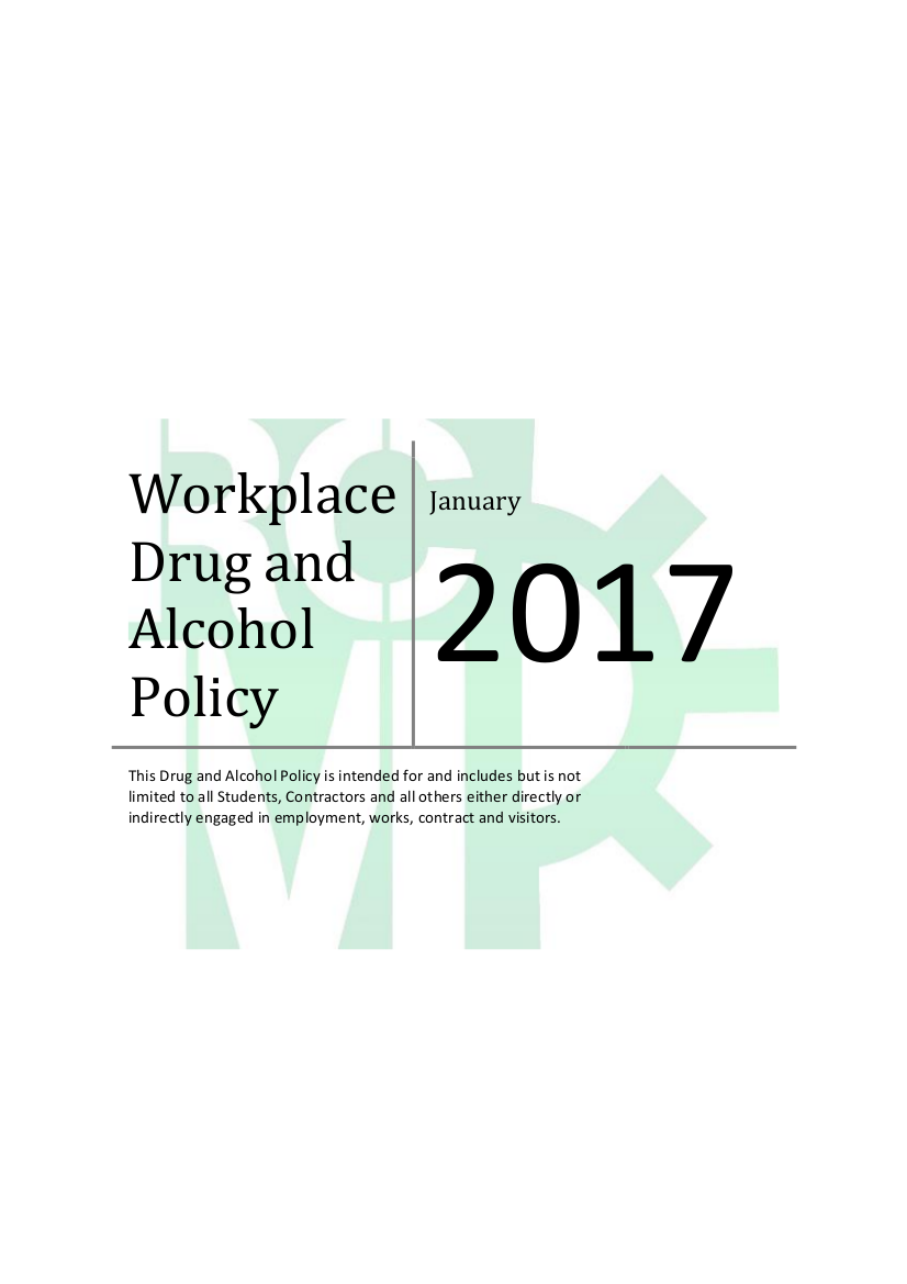 detailed workplace drug and alcohol policy example