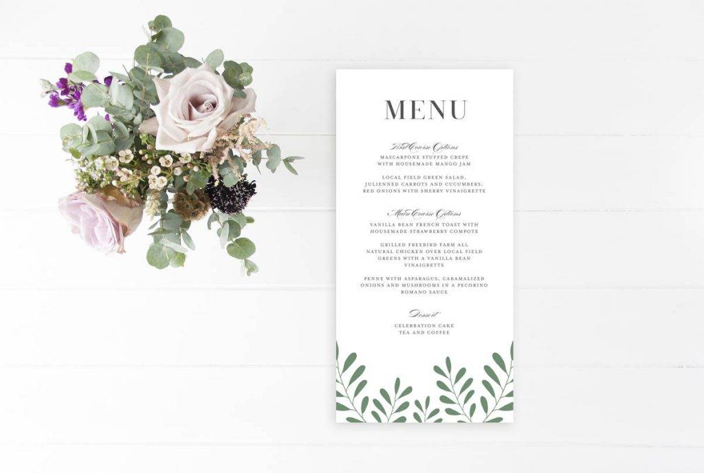 dinner event menu example 1024x688
