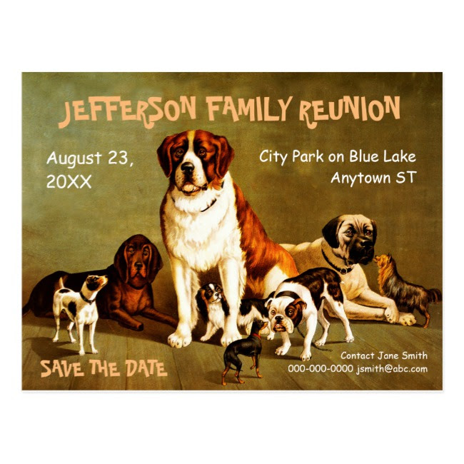 dog family reunion invitation example