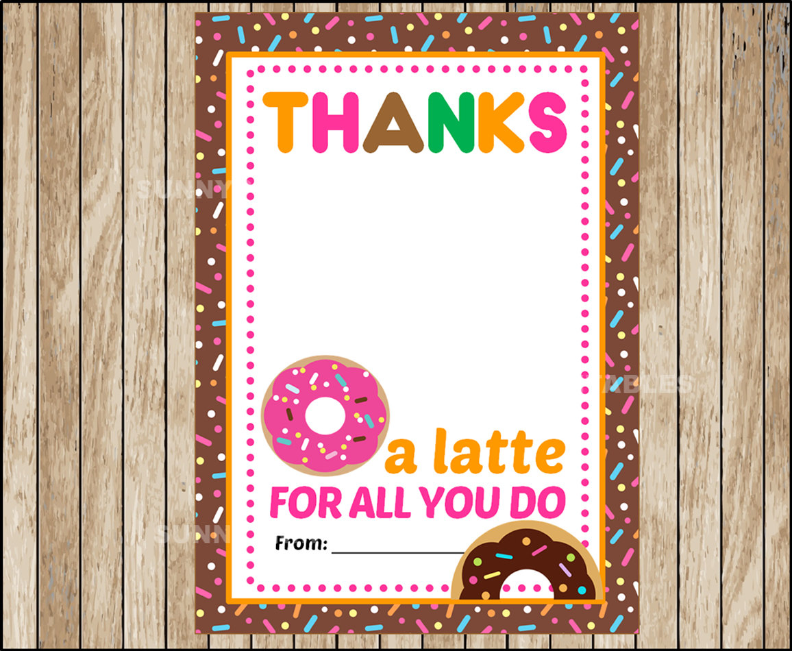 donut graduation gift card example