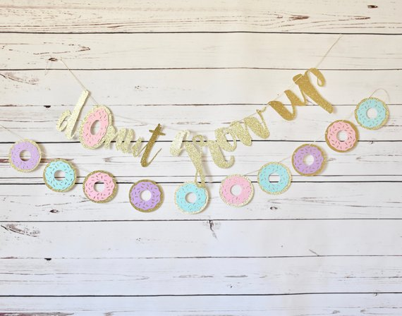 donut party banner example