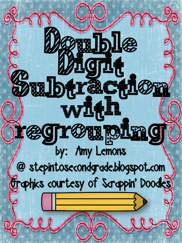 double digit subtraction with regrouping worksheet example
