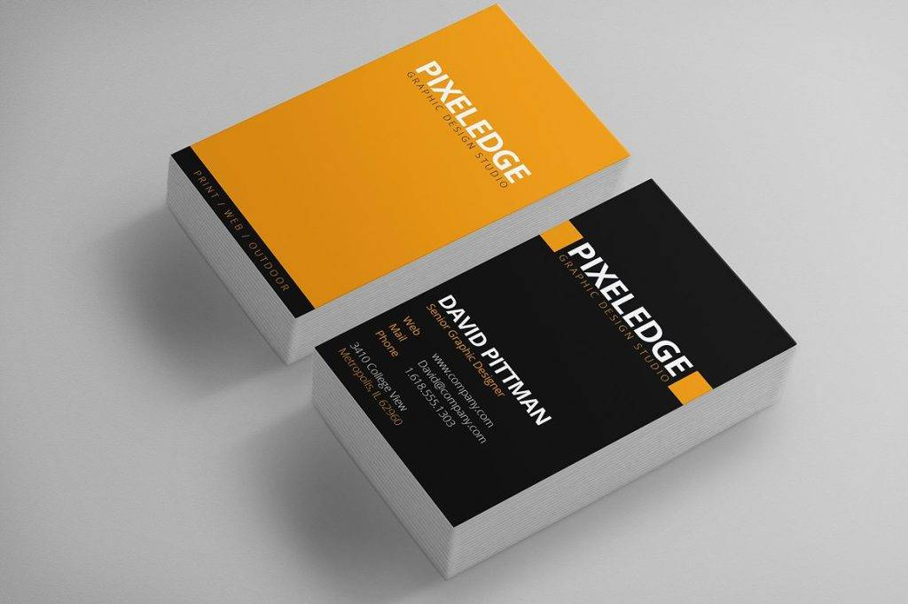 double sided graphic designer business cards