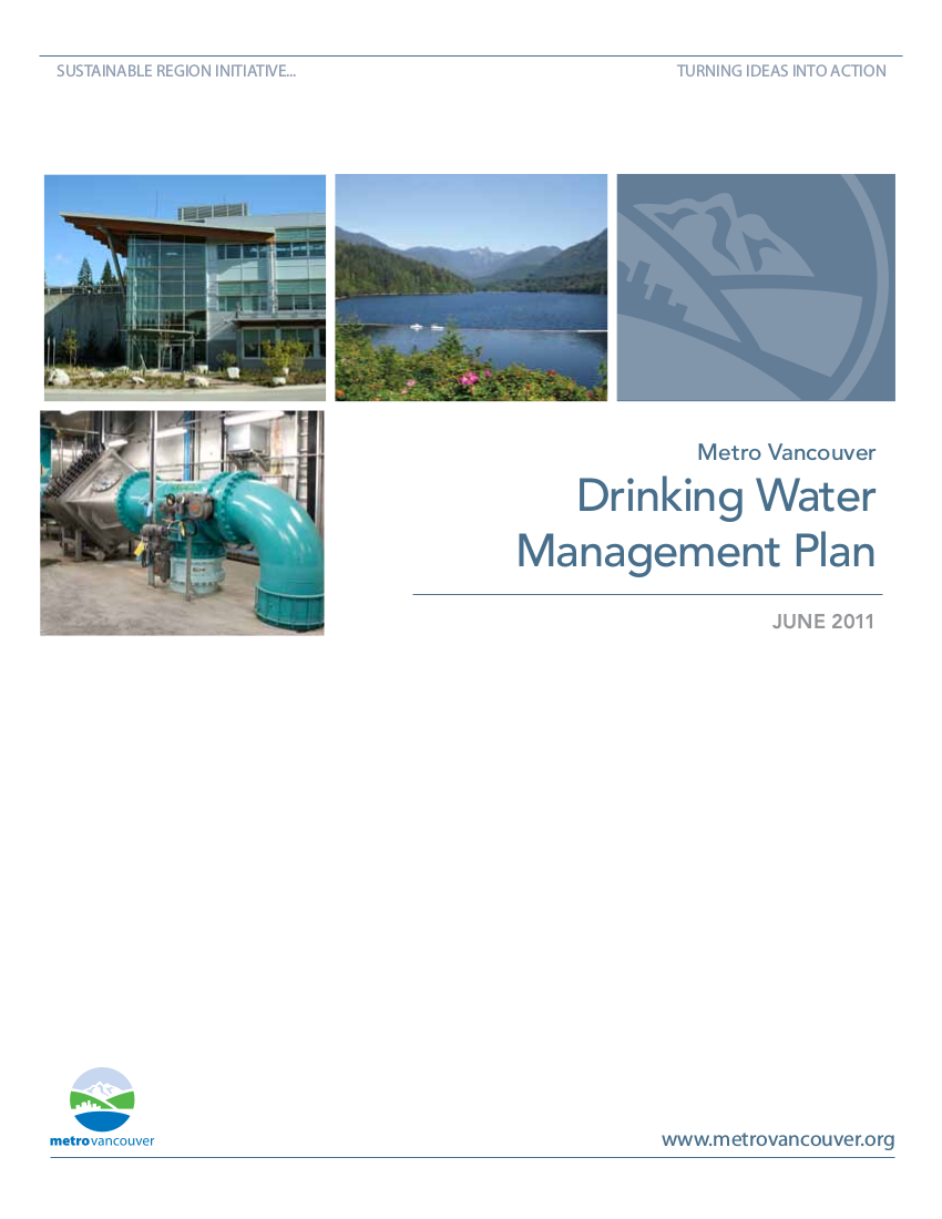 drinking water management plan example