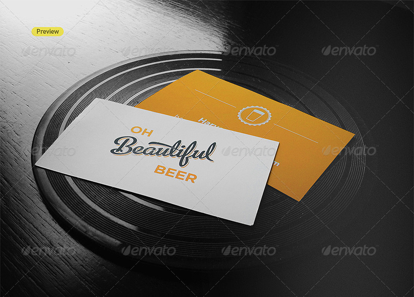 drinks business cards mock up example