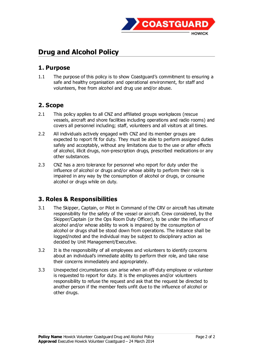 8+ drug and alcohol policy examples - pdf