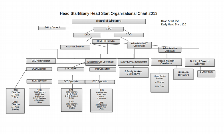 early head start organizational chart examples