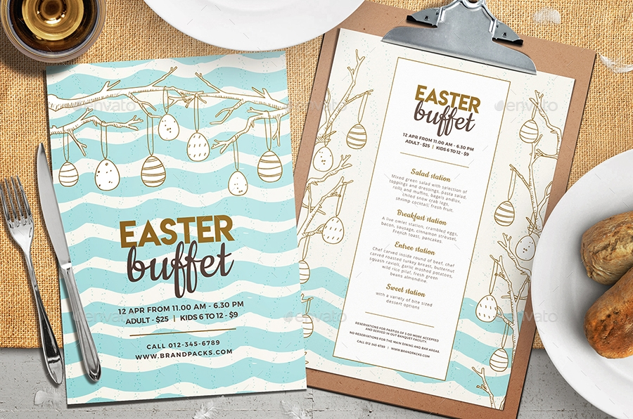 easter egg buffet party menu example