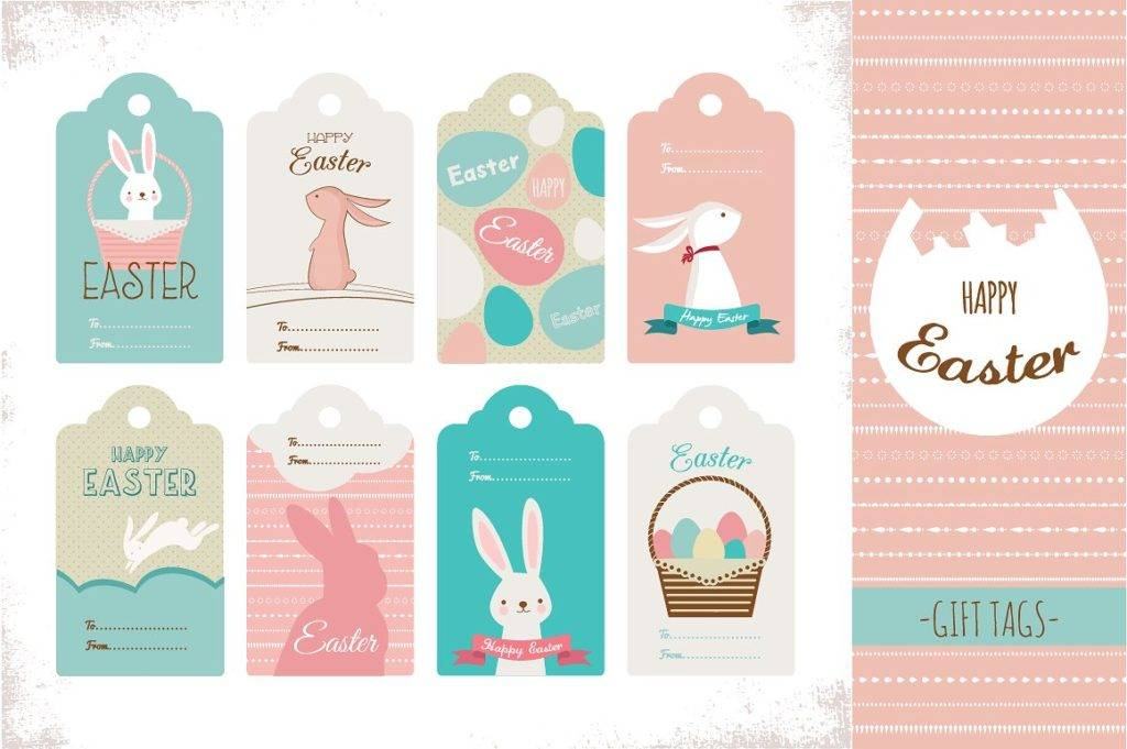 easter tags design example