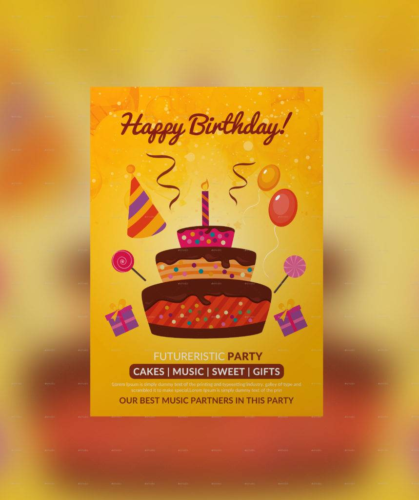 editable birthday party poster