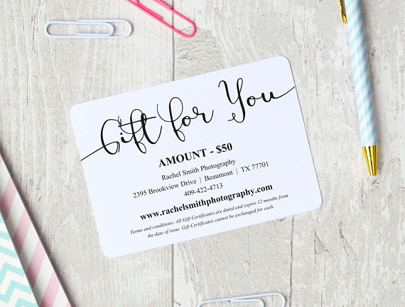 editable gift card example
