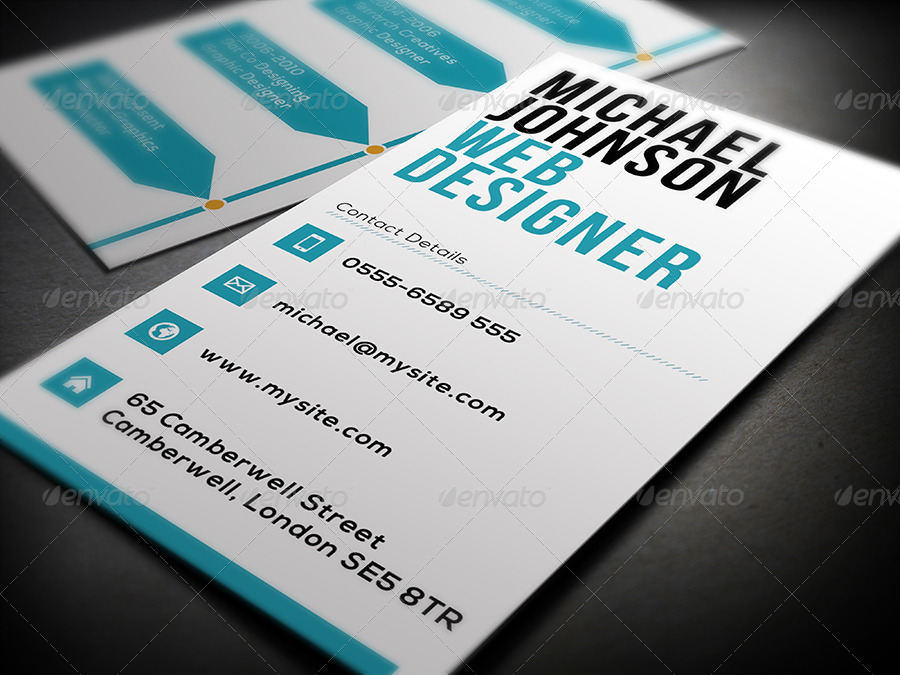 editable graphic designer business card