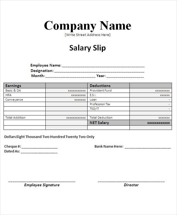 editable salary slip example1
