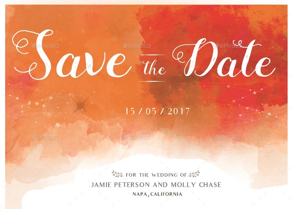 editable wedding save the date example