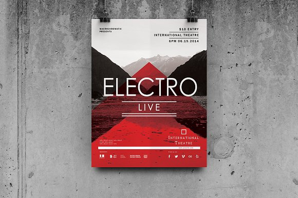 electro concert poster example