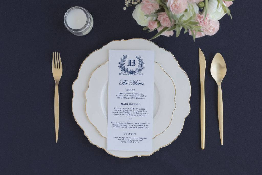 elegant buffet menu design
