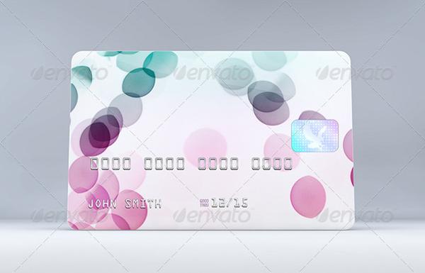 elegant credit card mock up