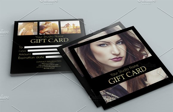 elegant gift card example