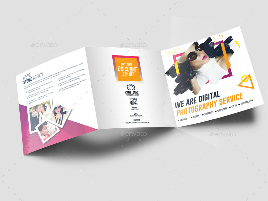 elegant photography trifold brochure example
