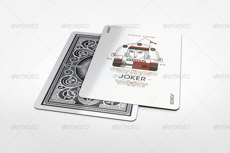elegant playing cards mock up