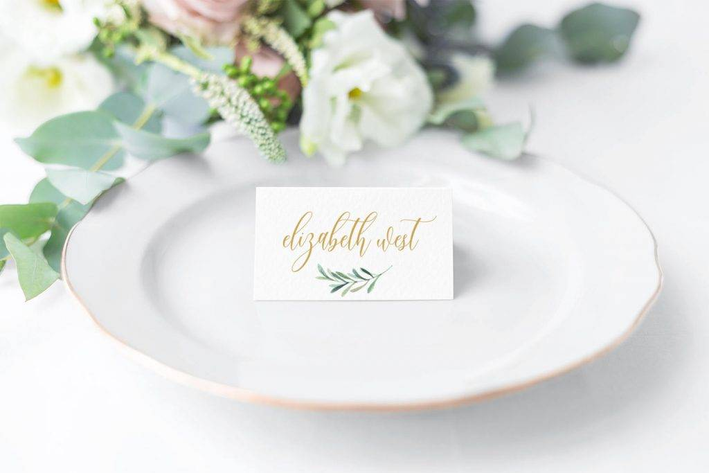 elegant printable place card example