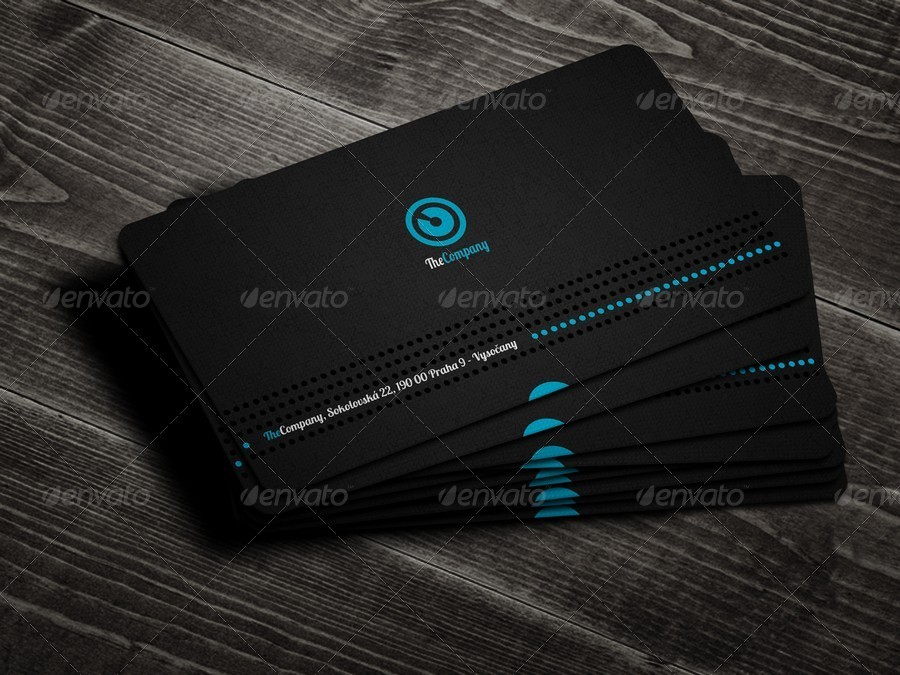 elegant professional business card example