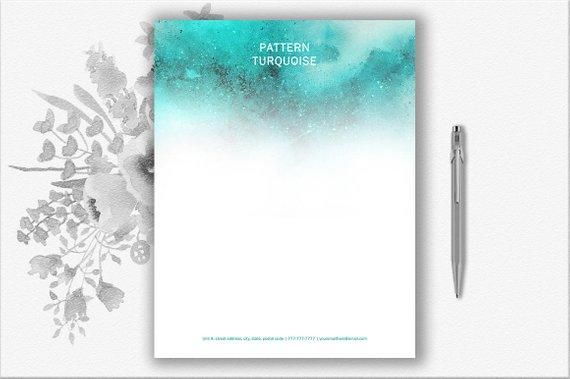elegant turquoise letterhead design example