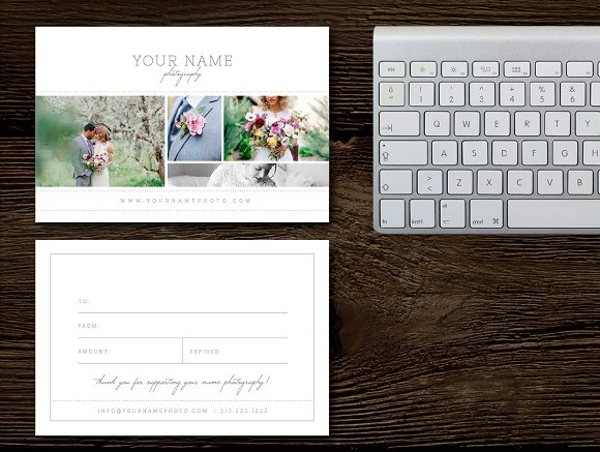 elegant wedding gift card