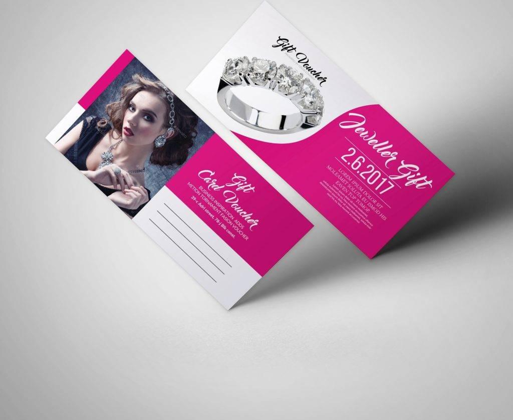 elegant woman prize voucher example
