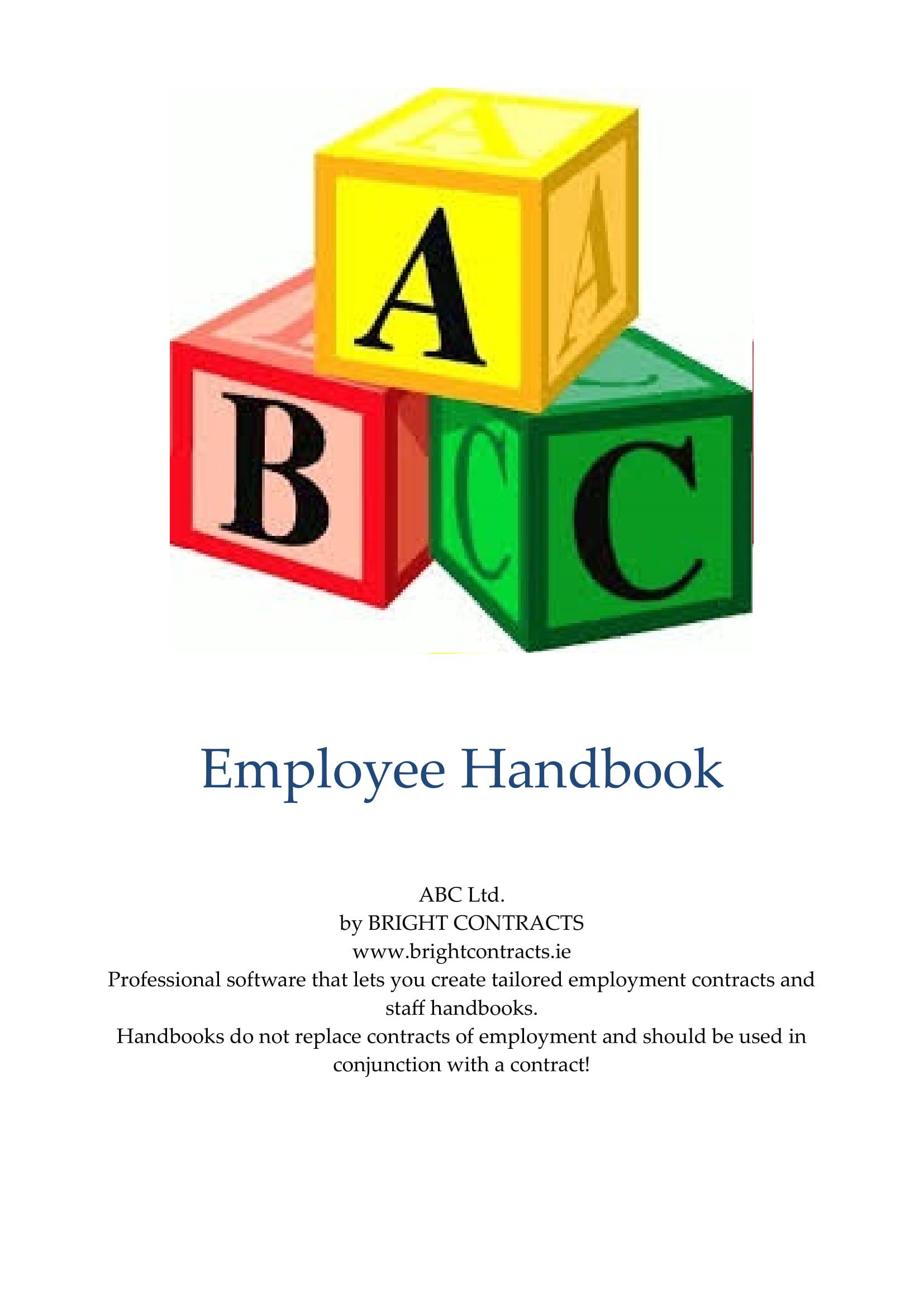 employee handbook example