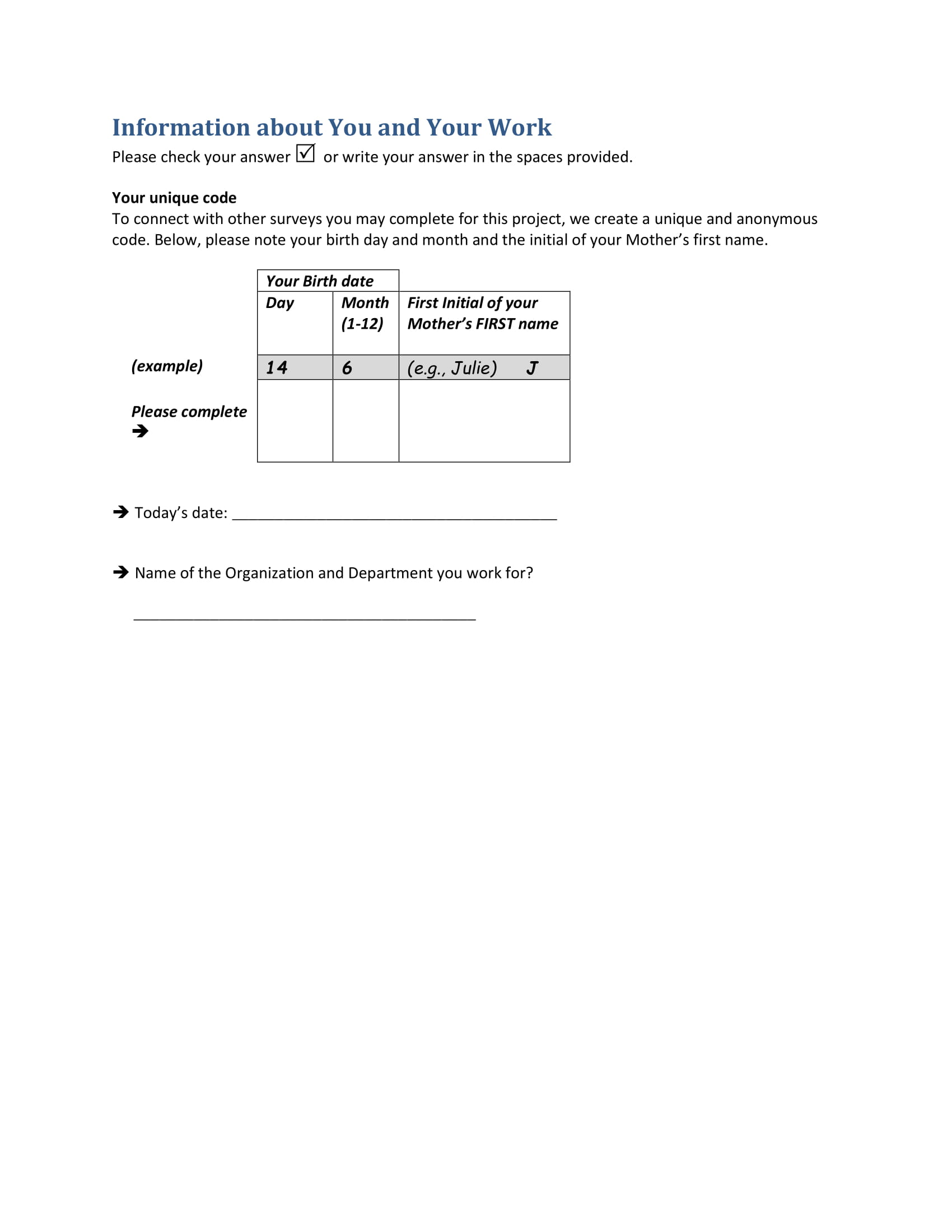 employee needs assessment example