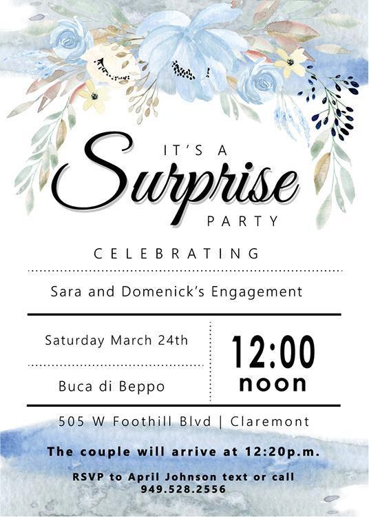 engagement surprise party invitation