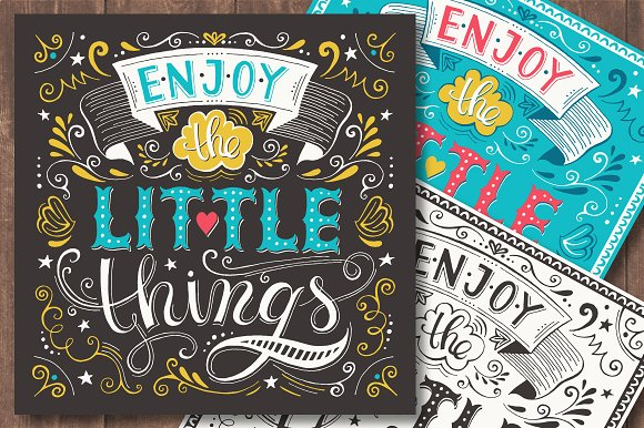 enjoy the little things poster example