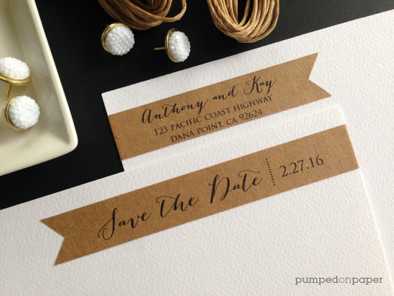 envelope save the date label example