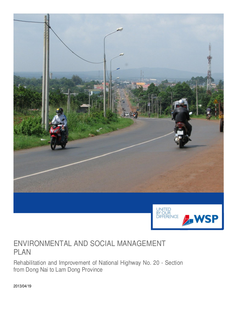 environmental and social management plan example