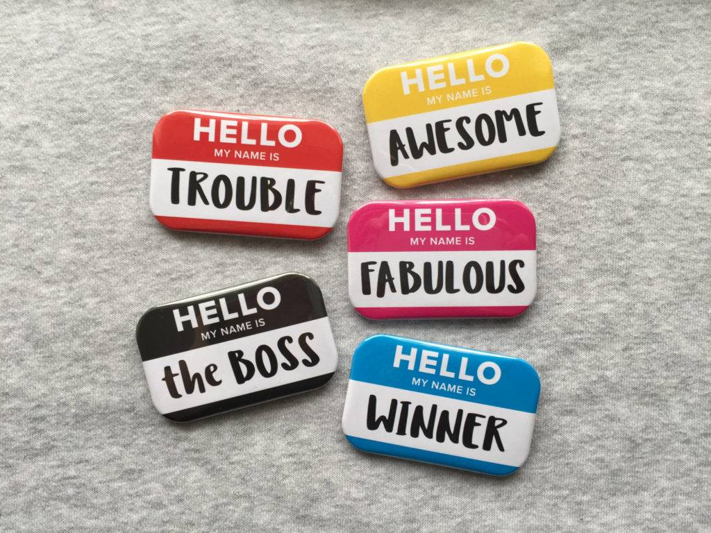 erasable hello name badges